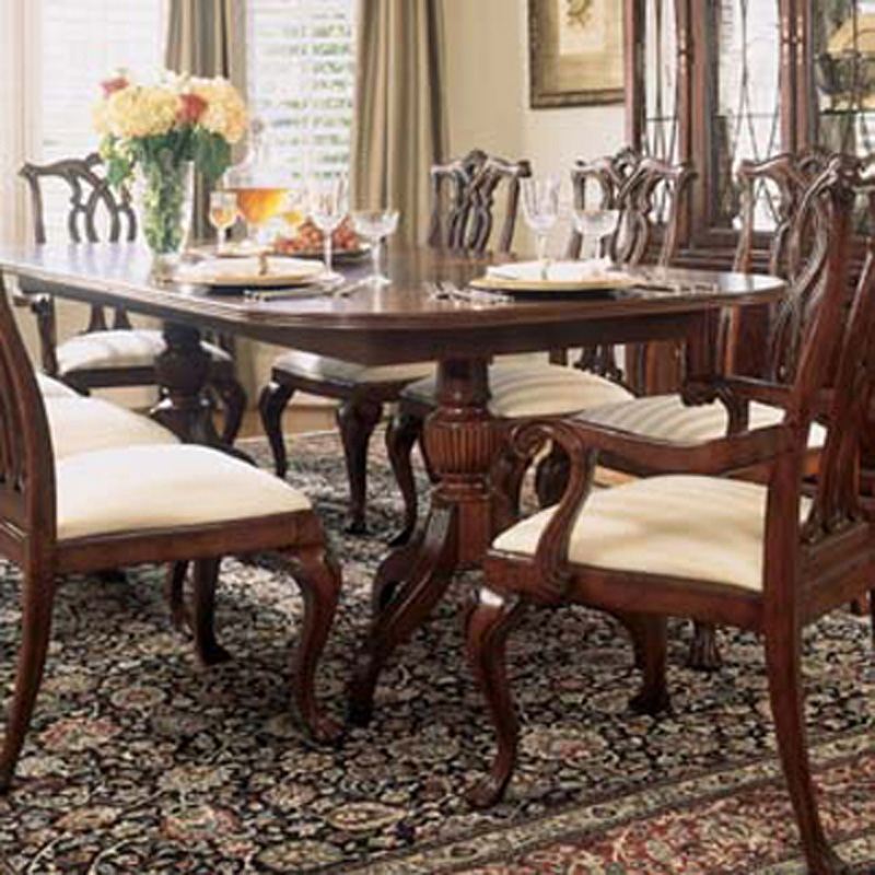 Pedestal Table 792 744R Cherry Grove 45th American Drew