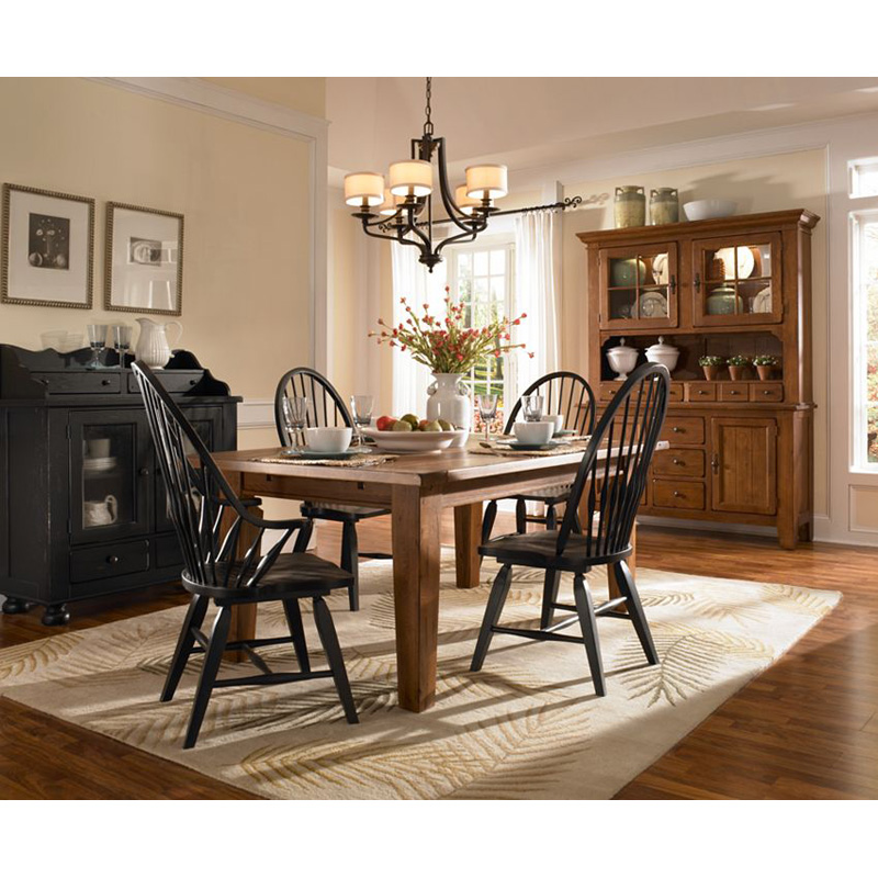 Rectangular Leg Dining Table Natural Oak Stain 5397 42s