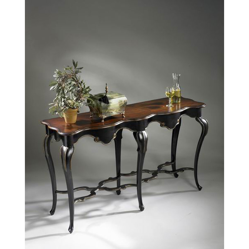 Console table 1526104 cafe noir butler specialty furniture - Table console noire ...