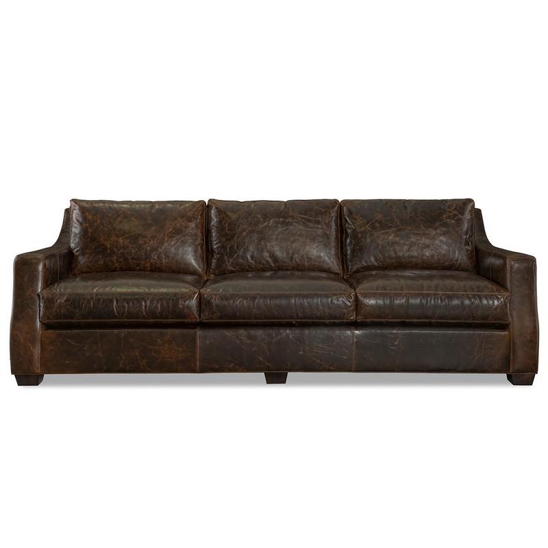 Inexpensive Leather Sofa: Leather Long Sofa L1990-01 Barrett CR Laine Furniture At