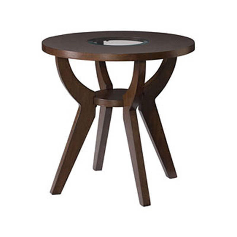 Round end table 274 915 zenith hammary furniture at denver for Zenith sofa table