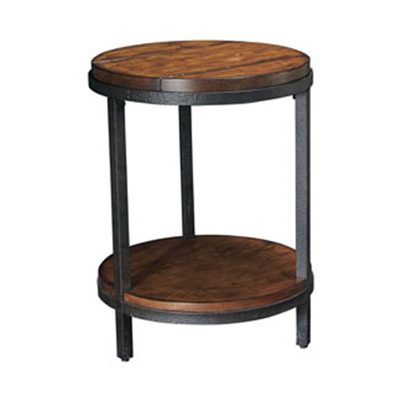 Round end table t2075235 00 baja hammary furniture at for Table th collapse