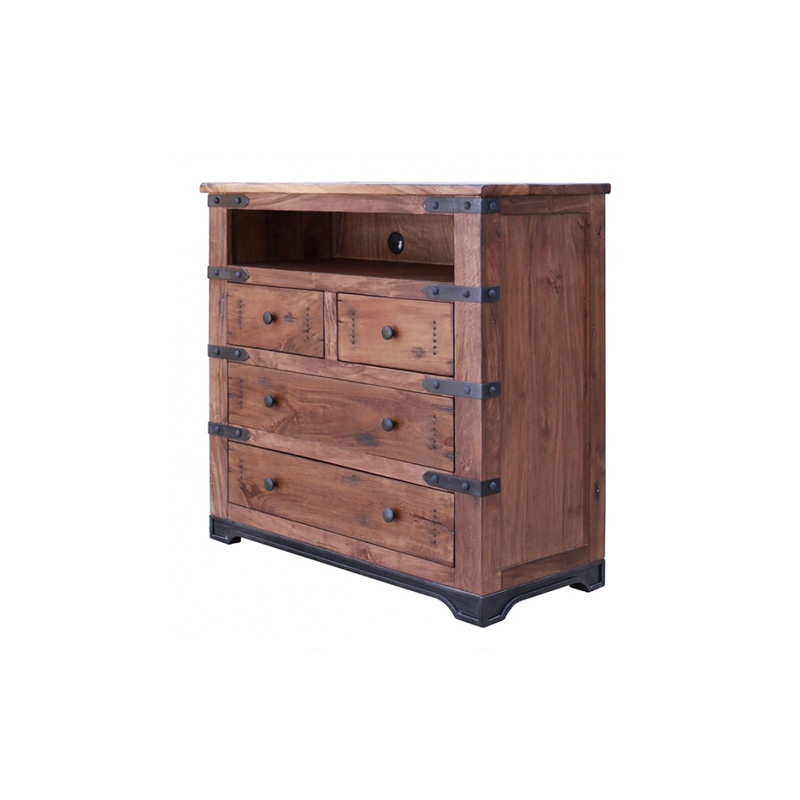 4 drawer media chest ifd866chest tv 866 parota for Direct furniture