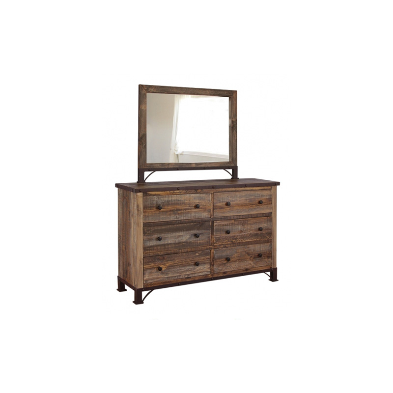 6 Drawer Dresser Ifd966dsr 966 Antique International