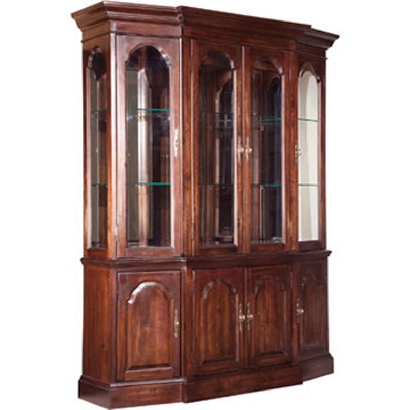 Canted china cabinet 60 085 carriage house kincaid for Carriage house kitchen cabinets