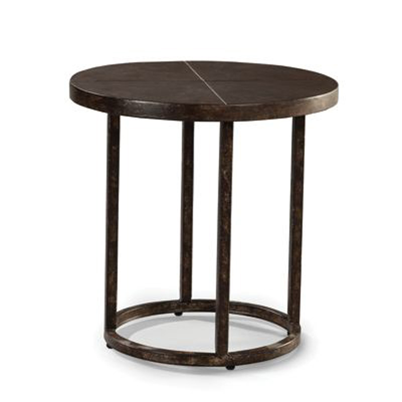 Industrial Renaissance Outdoor Coffee Table: 24 Inch Round End Table 9207-62 Industrial Renaissance