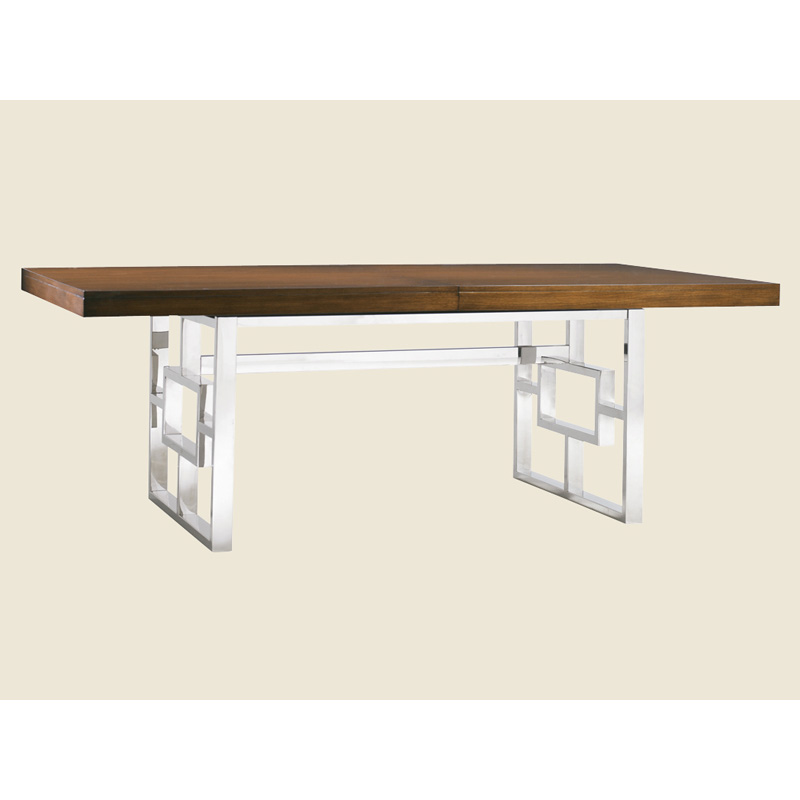 Lexington Chunky Chrome Coffee Table: Monroe Dining Table 458-876C Mirage Lexington Furniture At