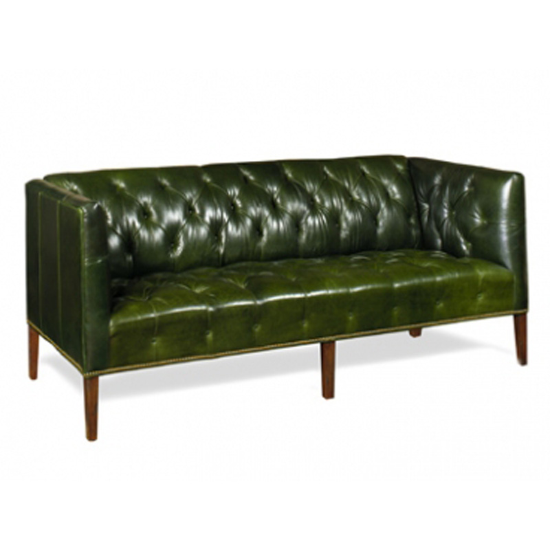 Leather Tufted Shelter Sofa Prescott McKinley Leather