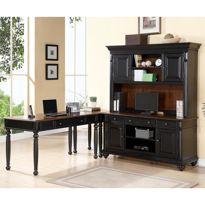 writing desk computer credenza and hutch 65732 richland
