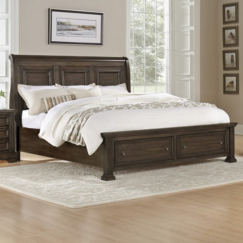 Sleigh Bed With Storage Option 560 4 1 Affinity Vaughan Bassett